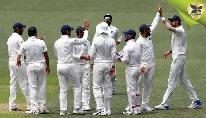 ஆஸ்திரேயாவிற்கு எதிரான முதல் டெஸ்ட் போட்டியில் 31 ரன்கள் வித்தியாசத்தில் அபார வெற்றி பெற்றது இந்தியா